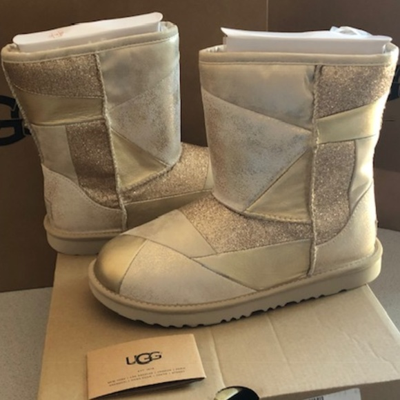 c35beb0c9a3 UGG Classic Short Metallic Patchwork Boots. Size 8